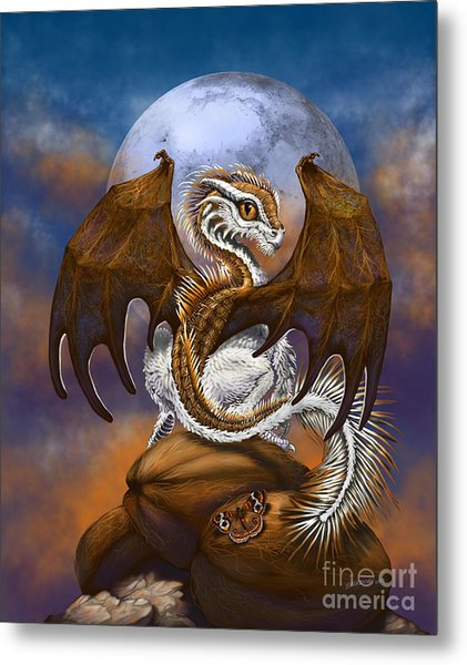 Coconut Dragon Metal Print