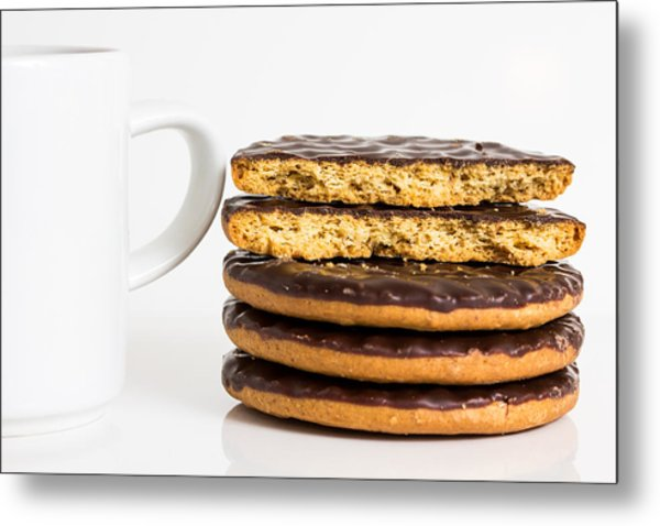 Coffee And Cookies. Metal Print by Gary Gillette