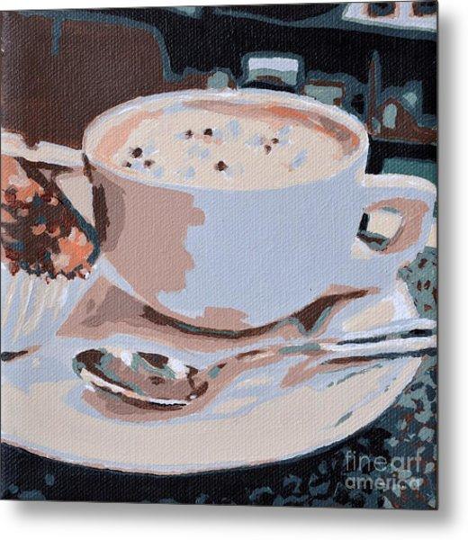 Coffee And Cupcake Metal Print