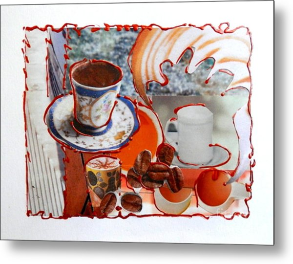 Coffee And Lunch Metal Print