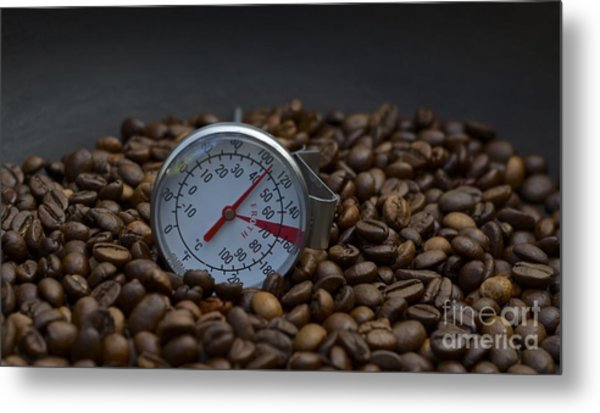 Coffee And Meter  Metal Print by Bobby Mandal