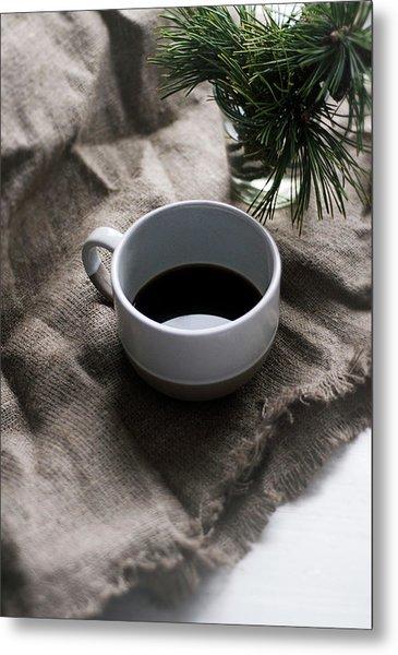 Coffee And Pine Metal Print