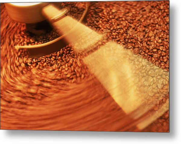 Coffee Beans Metal Print