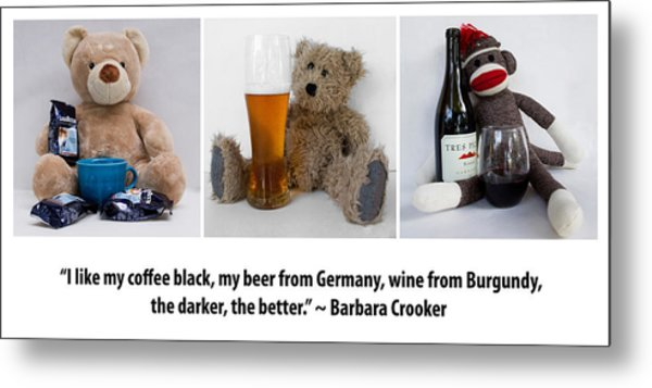 Coffee Beer And Wine 2 Metal Print by William Patrick
