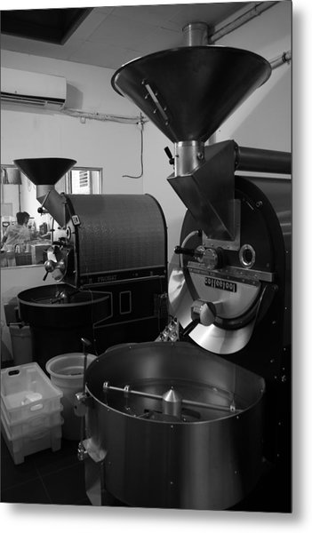 Coffee Being Metal Print by Maeve O Connell