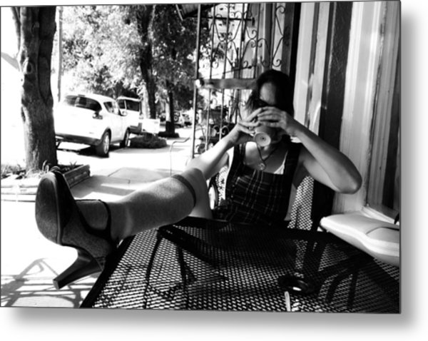 Coffee Break New Orleans Style Metal Print