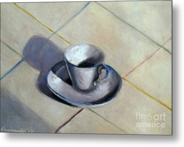 Coffee Cup Metal Print by Kostas Koutsoukanidis