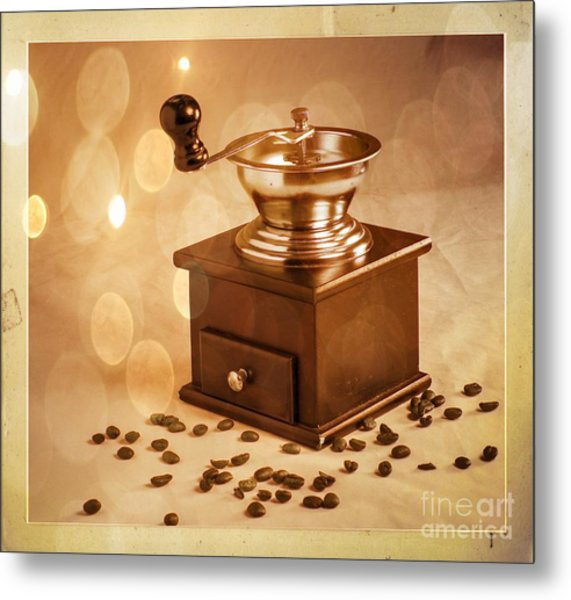 Coffee Grinder 2 Metal Print by Donald Davis