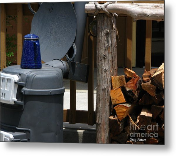 Coffee Is On Metal Print by Greg Patzer
