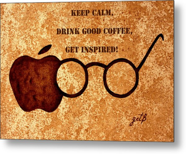 Coffee Lovers Quote 2 Metal Print