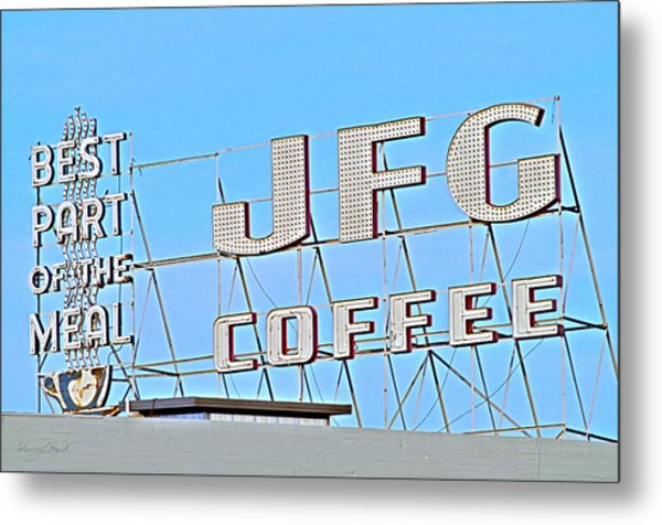 Coffee Sign Metal Print