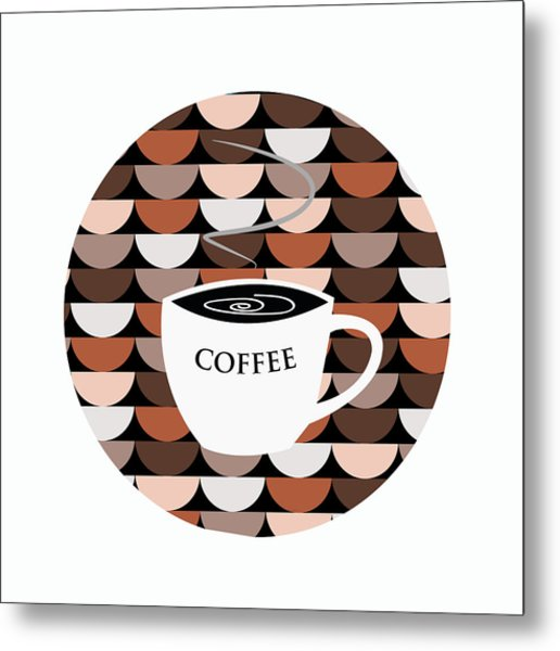 Coffee Time Metal Print by Kenneth Feliciano