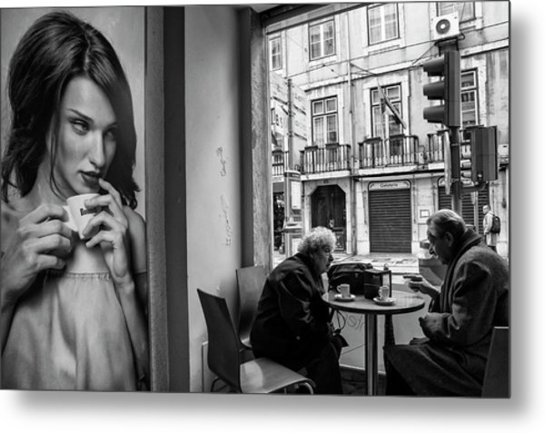 Coffeea?s Conversations Metal Print