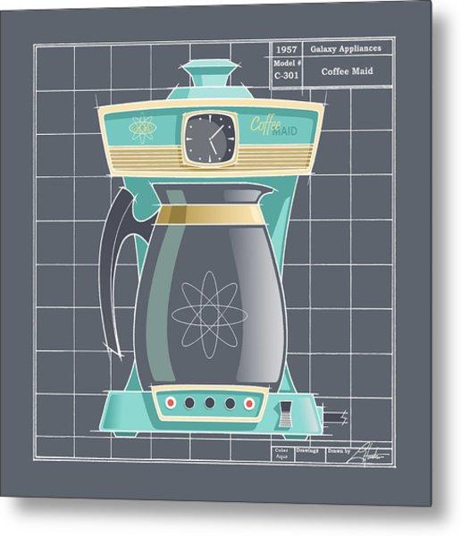 Coffeemaid -aqua Metal Print