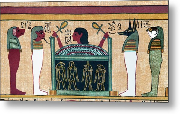 Coffin Of Osiris Metal Print by Sheila Terry/science Photo Library