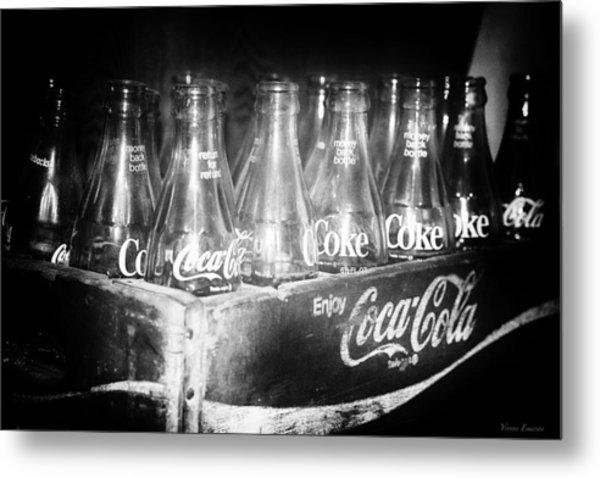 Cola Crate Metal Print