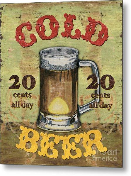 Cold Beer Metal Print
