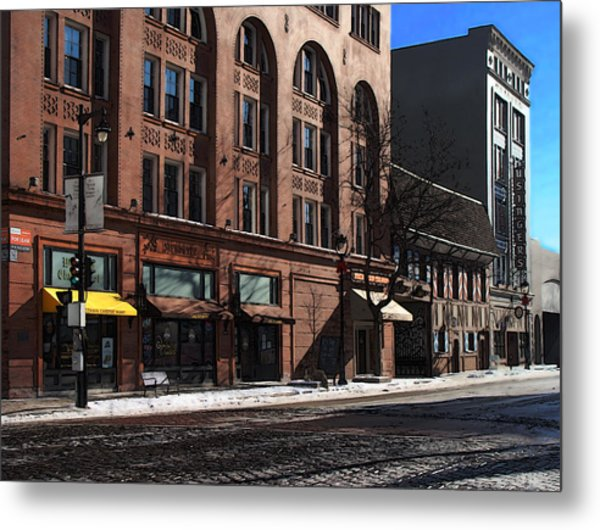 Cold Clear Morning On Old World 3rd Street In Milwaukee Wisconsin Metal Print by David Blank