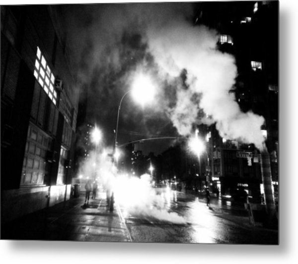Cold Dark Corner Metal Print by Jhoy E Meade