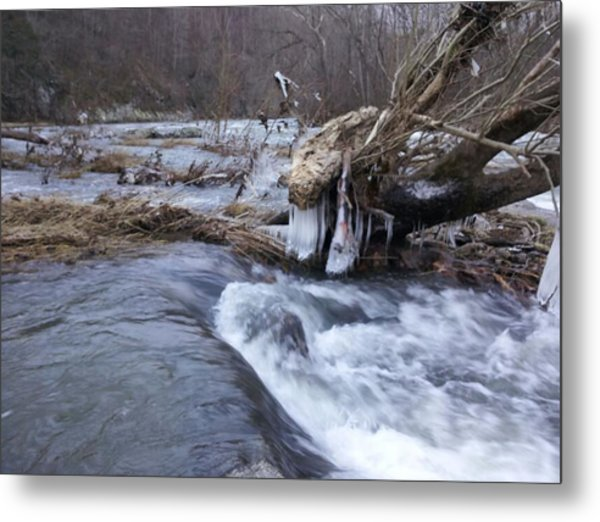 Cold River  Metal Print by Kiara Reynolds