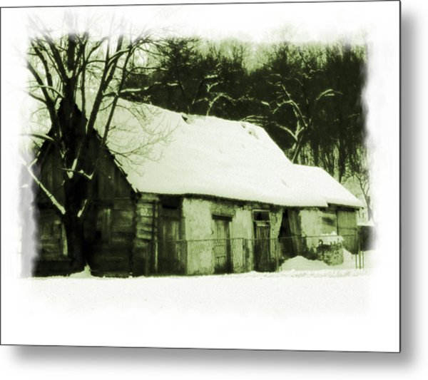 Countryside Winter Scene Metal Print
