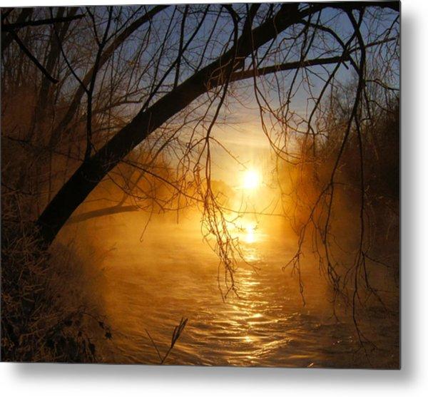 Cold Water Sunrise Metal Print