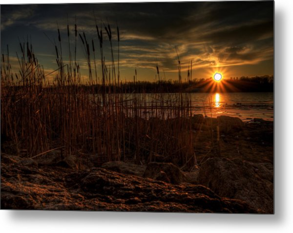 Cold Winter Sunset Metal Print