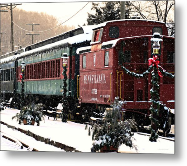 Colebrookdale Railroad In Winter Metal Print