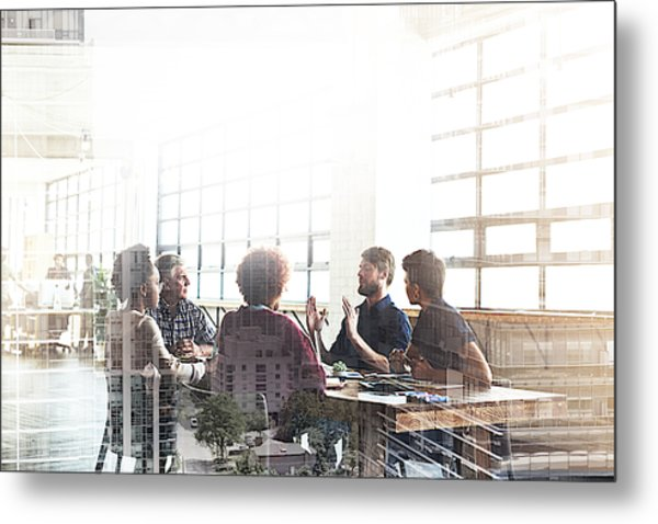 Collaborating To Build The City Of Their Dreams Metal Print by PeopleImages