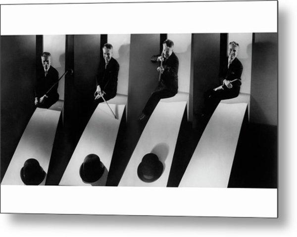 Collage Of Charlie Chaplin Metal Print