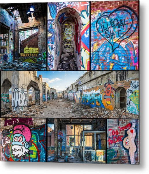 Metal Print featuring the photograph Collage Of Graffiti by Steven Santamour