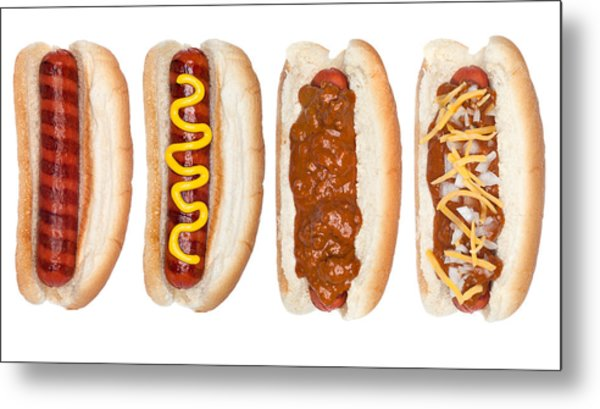 Collection Of Hotdogs Metal Print