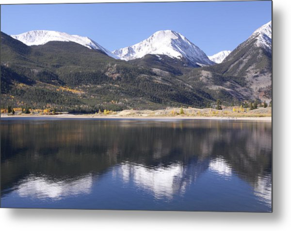 Collegiate Peaks Reflected Metal Print