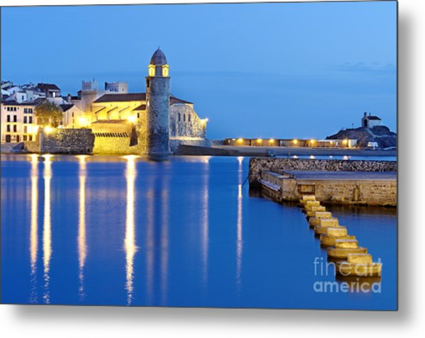 Collioure Harbour France Metal Print
