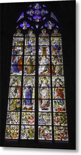 Cologne Cathedral Stained Glass Window Of The Three Holy Kings Metal Print