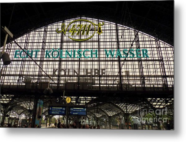 Cologne - Central Station - 4711 Metal Print