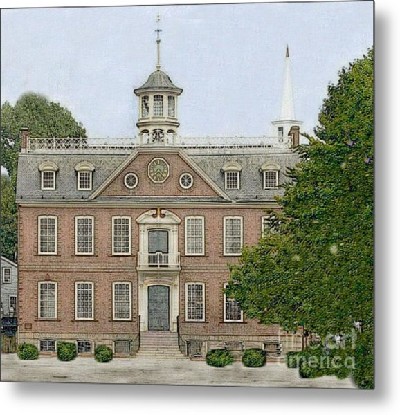 Colonial Court House Newport Rhode Island Metal Print by Diane E Berry