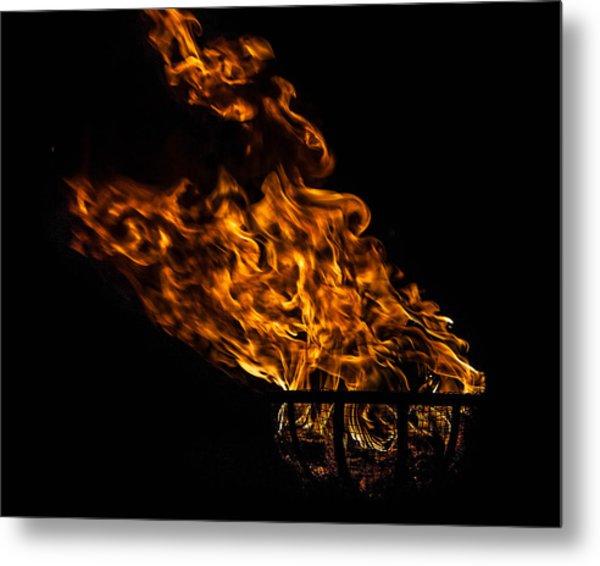 Fire Cresset Metal Print