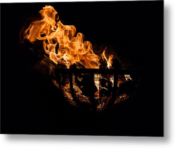 Fire Cresset Two Metal Print