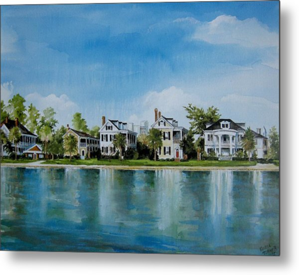 Colonial Lake In Charleston  Metal Print