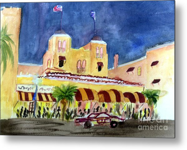 Colony Hotel In Delray Beach Metal Print