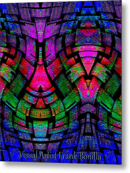 Metal Print featuring the digital art Color By Jesus by Visual Artist Frank Bonilla