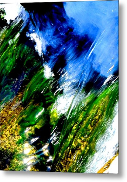Color Collision Metal Print