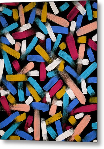 Color Comets Metal Print