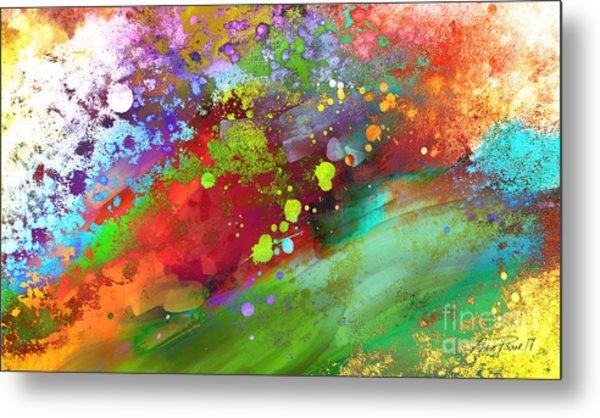 Color Explosion Abstract Art Metal Print