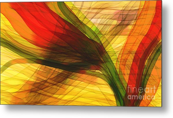 Color Flow Metal Print by Hilda Lechuga