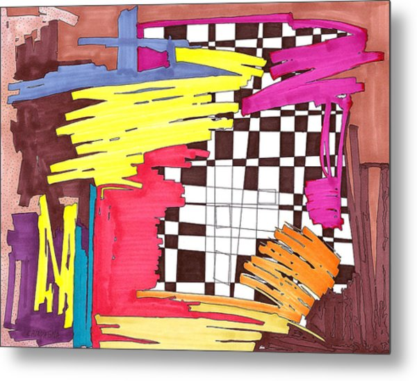 Color Fun IIi Metal Print by Teddy Campagna