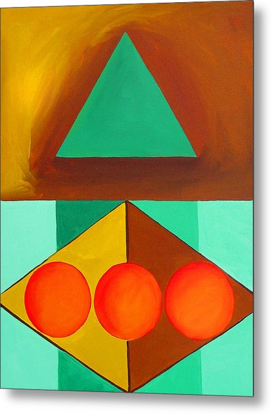 Color Geometry - Triangle Metal Print