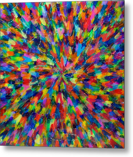 Color Implosion Metal Print by Patrick OLeary