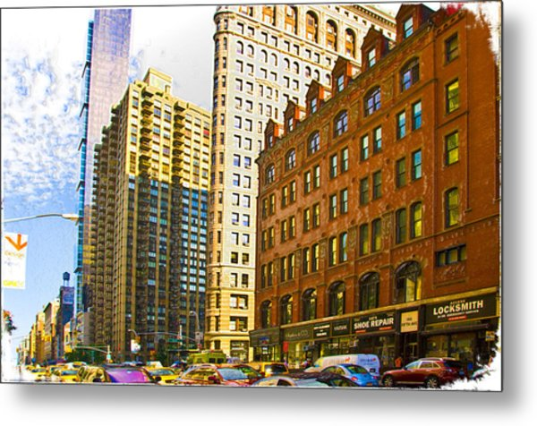Color In The City Metal Print